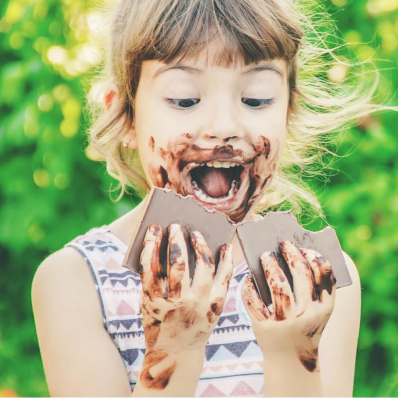 child-eating-chocolate-in-south-pasadena-ca